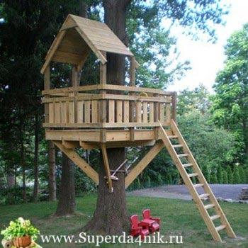домики на деревьях для детей своими руками