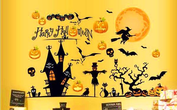 Декоративные наклейки на Хэллоуин
